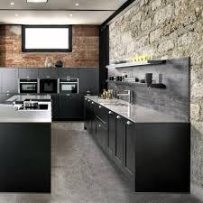 le suspendue cuisine cuisine industrielle moderne coffret classique d île de bois