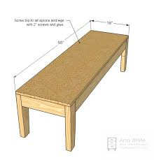 Free Wood Bench Plans by Ana White Easiest Upholstered Bench Diy Projects