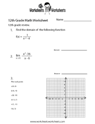 12th grade math worksheets free printable worksheets for