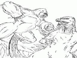 godzilla king kong coloring pages coloring