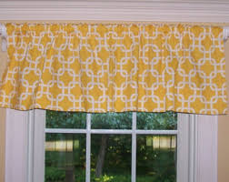 Valance And Curtains Yellow Valance Etsy