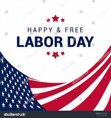 Design A Flag Free Happy Free Labor Day September 7th Stock Vector 307004237