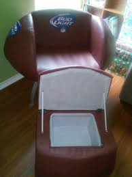 Ottoman Cooler Used Bud Light Football Chair With Ottoman Cooler In San Antonio