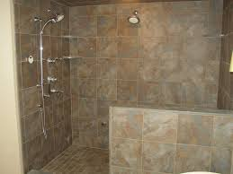 Shower Designs Without Doors Comfortable Bathroom Shower Designs Without Doors With Walk In