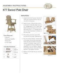 swiveling poly pub chair from dutchcrafters amish furniture