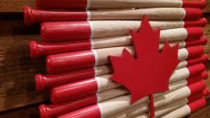 baseball bat canadian flag 18 inch bats