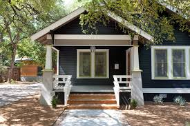 dark blue siding porch craftsman with front porch traditional