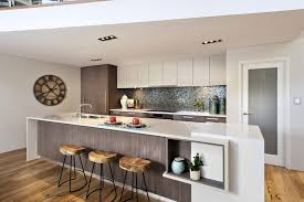 kitchen design ideas australia contemporary minimalist kitchen design with white sleek waterfall
