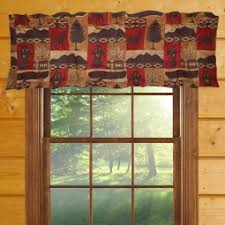Western Window Valance Rustic Cabin Curtains Valances Cabin Place