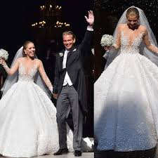 show stopping wedding gown victoria swarovski marries in italy