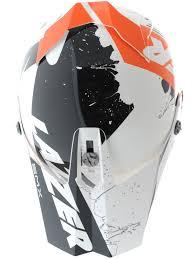 661 motocross helmet lazer white black orange smx whip mx helmet lazer