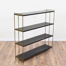 black u0026 brass mid century modern bookshelf modern bookshelf