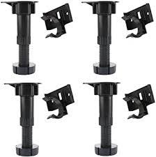 kitchen base cabinet adjustable legs uxcell adjustable height cabinet cupboard leg foot for kitchen bathroom 4pcs