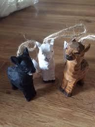 alpaca ornaments wooden black circus city alpacas