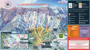 Big Sky Montana Map by Bridger Bowl Ski Area