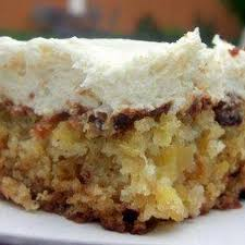 pineapple pecan cake with cream cheese frosting recipe by