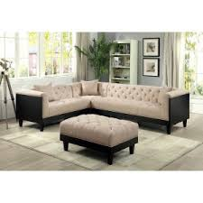 Tufted Sectional Sofas Tufted Sectional Hayneedle