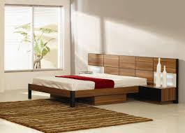 cozy simple bedroom design with mdf platform bed and two tone