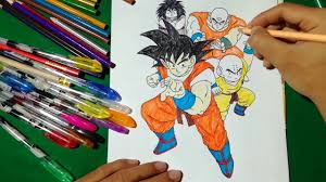 goku friends coloring book dragon ball prepare fight