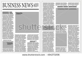 graphical design newspaper template stock vector 494273206