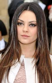 long face long hair hair style and color for woman