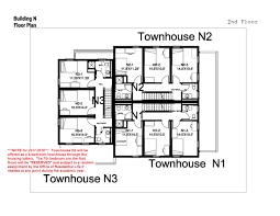 6 Bedroom Floor Plans Village Townhouses Washington And Lee University