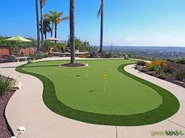 Backyard Putting Green Designs by San Diego Putting Greens Green Land Co San Diego Landscaping