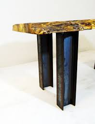 buy hand crafted industrial modern stee i beam pedestal coffee