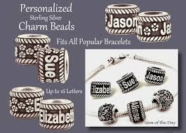 name charms gemday personalized bead charms jewelry sterling silver from