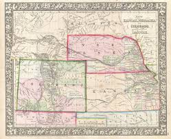 Maps Of Colorado File 1866 Mitchell Map Of Colorado Nebraska And Kansas