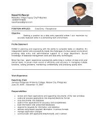 petroleum engineer resume data entry resume