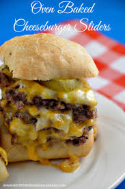 oven baked cheeseburger sliders recipe cheeseburger sliders