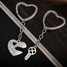 best key rings images 2 pcs set heart key keychain couple love lock key chain male jpg