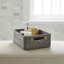 Bathroom Baskets For Storage Bathroom Baskets Crate And Barrel