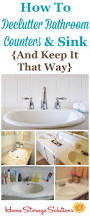 how to declutter your bathroom sink u0026 counter u0026 make it a daily