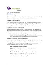 Resume And Cover Letter Samples Monster Cover Letters Resume Cv Cover Letter