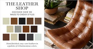 Leather Sofa Shops Leather Furniture Williams Sonoma