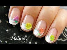 summer lily nail art design tutorial perfect for short nails