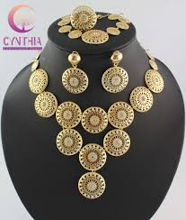 chunky crystal necklace sets images Dubai african chunky gold plated crystal jewelry sets weddirect jpg