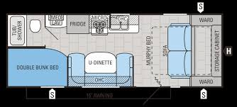 campers with bunk beds floor plans floor plans and flooring ideas