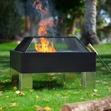 Patio Master Grill by Fire Sense Square Hotspot Fire Pit With Cooking Grate And Free