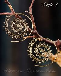hoops earrings india spiral hoop earrings from india in brass or nickel finish siamese