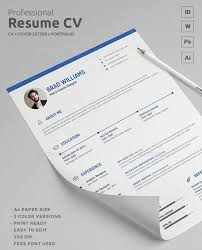 Resume Paper Size 15 Creative Resume Templates Download