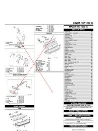 rx7 collision repair steering anti lock braking system