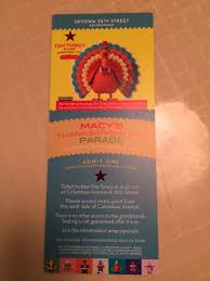thanksgiving day parade tickets family where is rahul