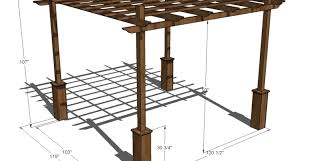 thrilling free attached pergola building plans tags free pergola
