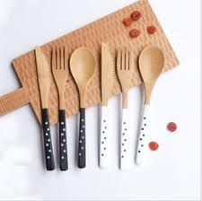 kitchen forks and knives bamboo forks knives spoons bamboo forks knives spoons for