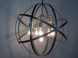 accessories industrial orb for sphere chandelier as ceiling light