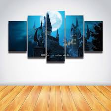 2017 5 panel set printed harry potter hogwarts castle