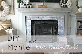brick fireplace white mantle part 24 â ï the surround mantle